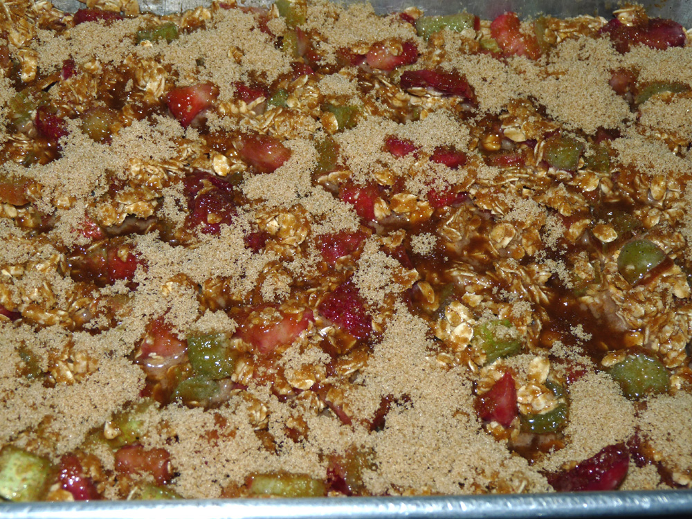 Sprinkle with brown sugar and place in oven.