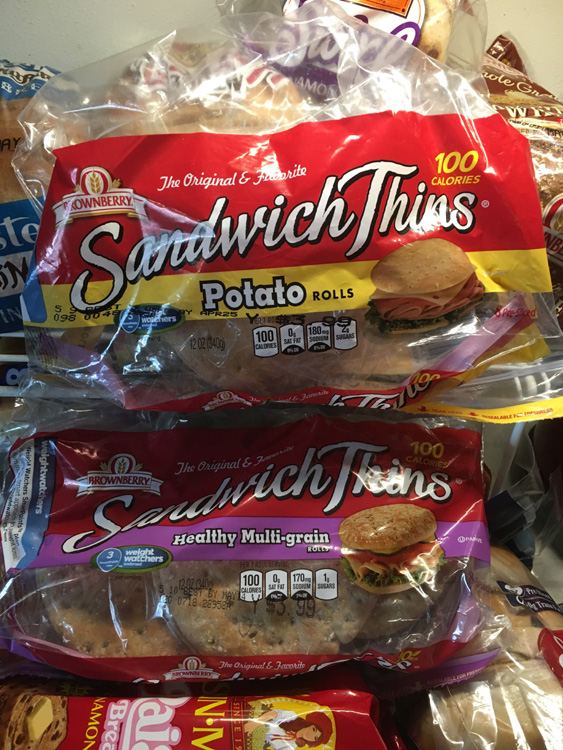 Use bread or buns of choice: mine were Sara Lee Sandwich Thins