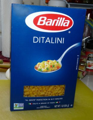 Ditalini works well for this dish, or small rings if you can't find the Ditalini