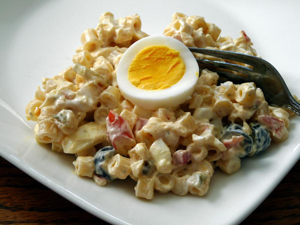Krabby Egg Pasta Salad