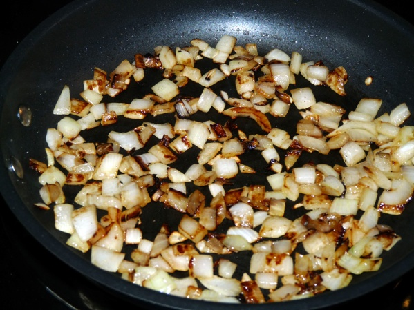 Brown onion in a drizzle of oil until slightly caramelized