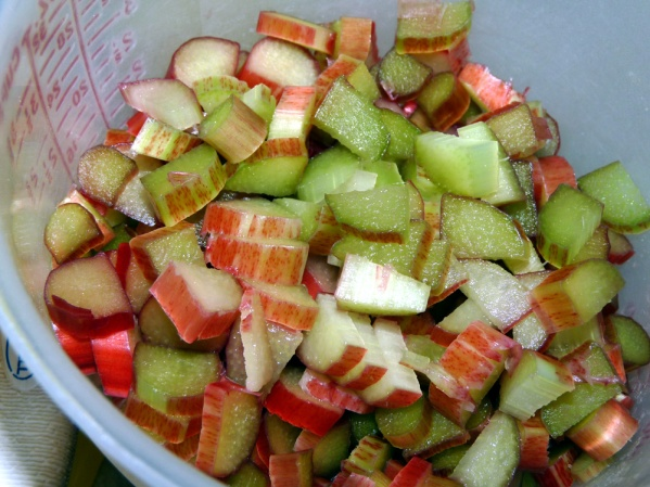 Dice rhubarb
