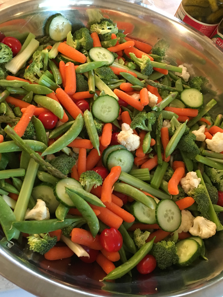 Veggie Tray for the Graduation Party