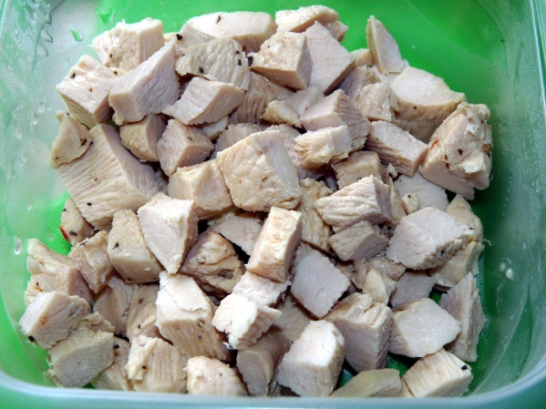 Diced leftover chicken