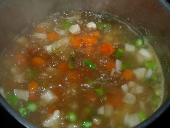 Let soup cook until carrots are fork tender. Add orzo and cook until softened