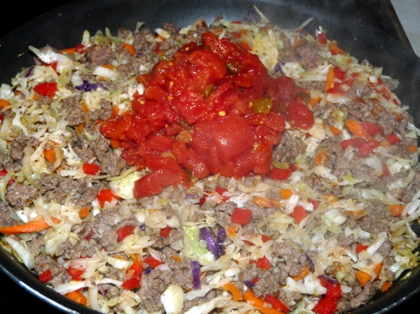 Add a can of petite diced tomatoes