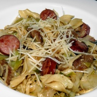 Sausage, Cabbage and Noodles
