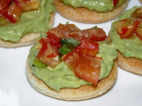 Avocado Mash Crostini with Tomato Relish
