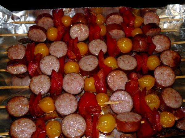 Serve kabobs with a side salad or vegetable.
