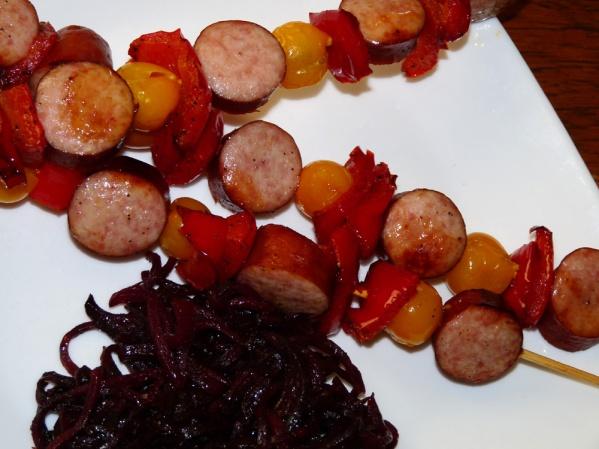 Oven Sausage Kabobs