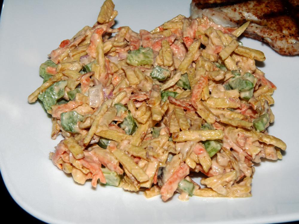 Shoestring Potato Salad