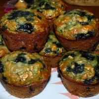Blueberry Zucchini Oatmeal Muffins
