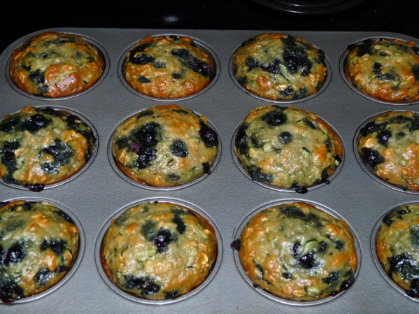 Bake muffins for 25 minutes. Remove and sit on a rack until cooled. Store in a covered container.