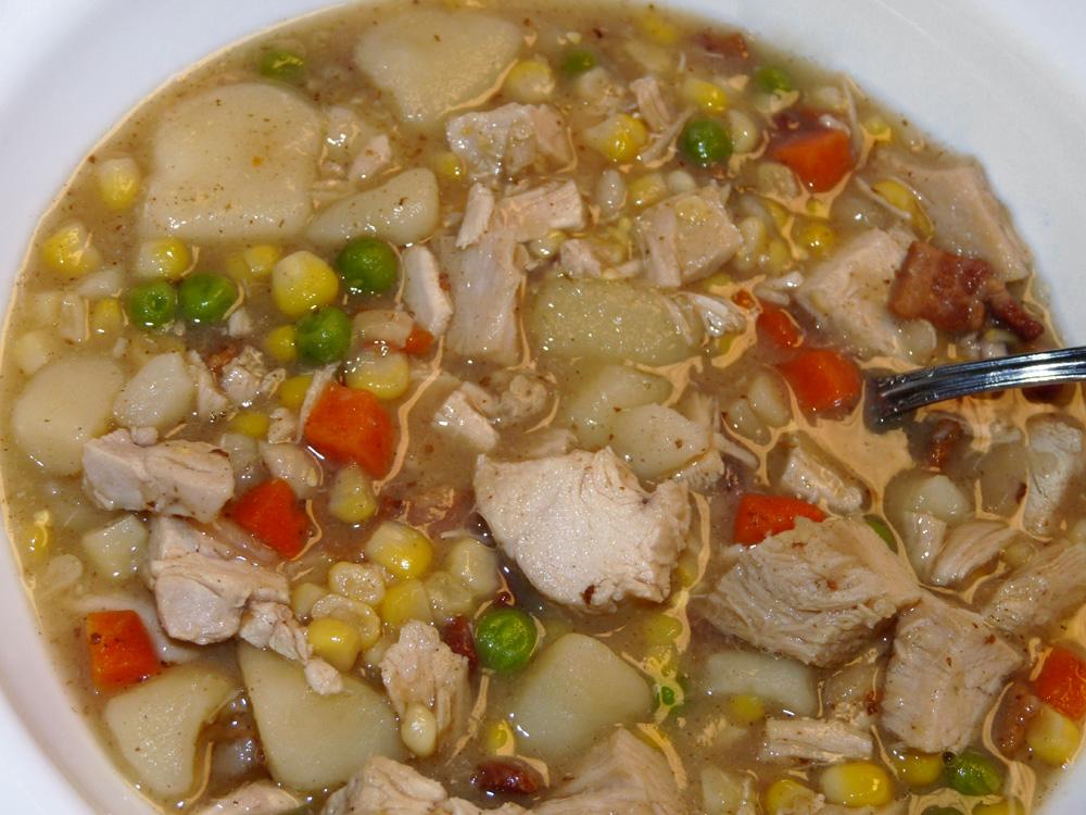 Fowl Potato Soup