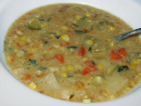 Fresh Corn and Zucchini Chowder