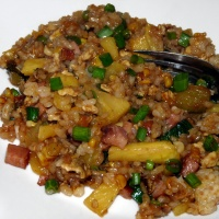 Vegetable and Ham Fried Rice