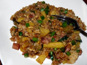 Ham and Vegetable Fried Rice