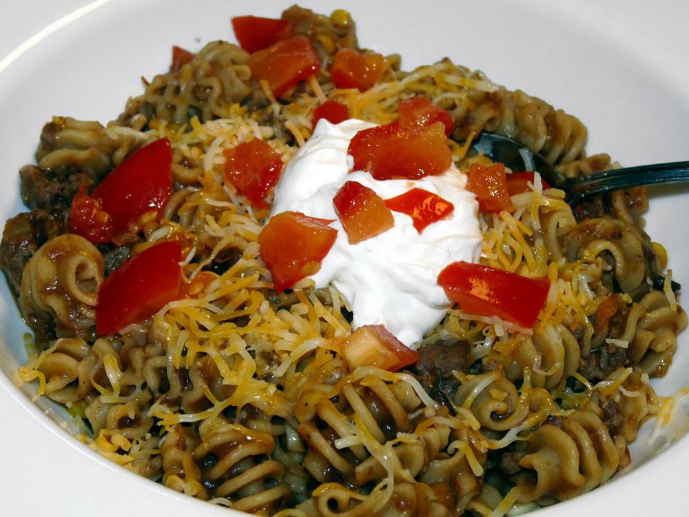 Mexican Pasta - Rainy Day Fusion Food