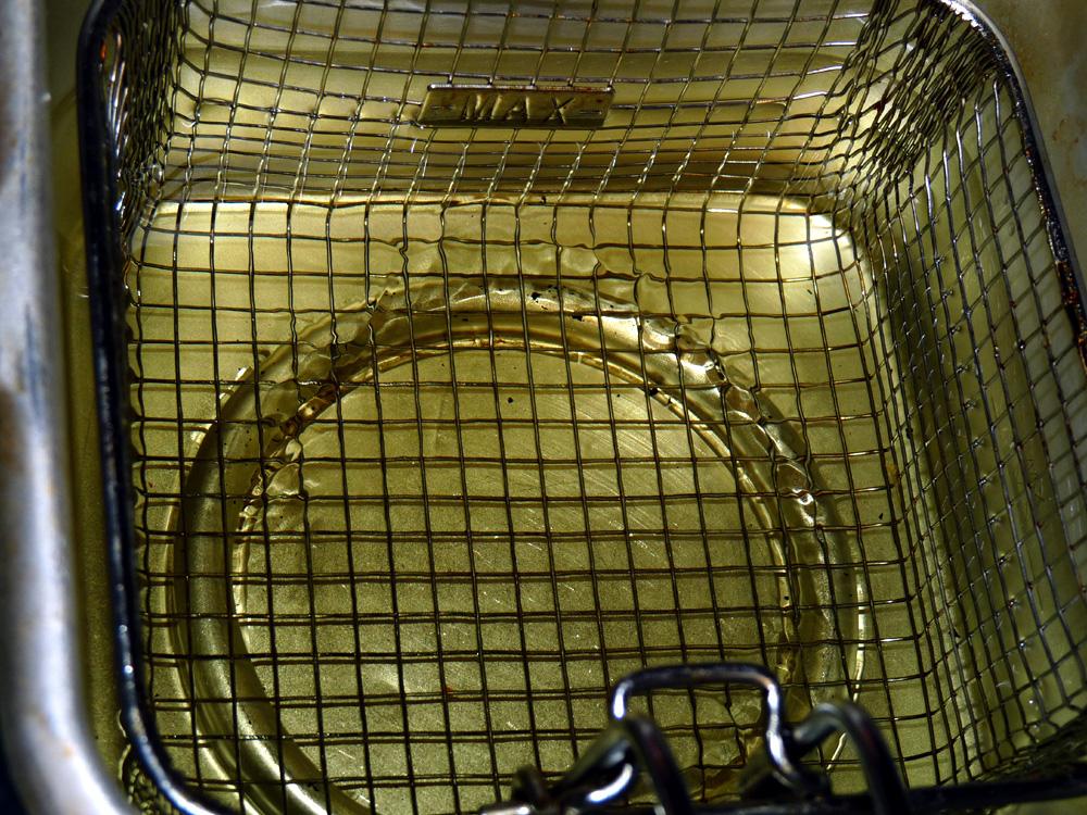 Heat deep fryer to 350°F