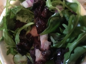 Roasted Beet and Arugula Salad with Zesty Vinaigrette