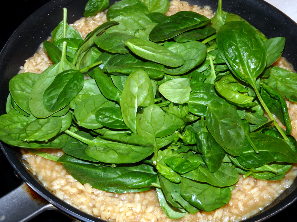 Add handful of spinach