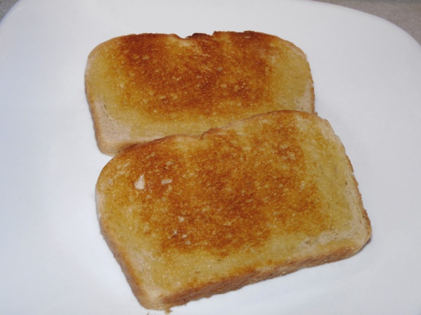 Toast and butter bread of choice. I used a sourdough bread this time.