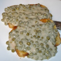 Creamed Peas on Toast