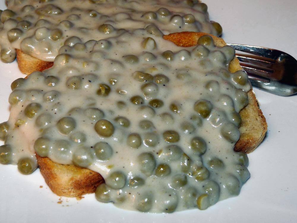 Creamed Peas on Toast
