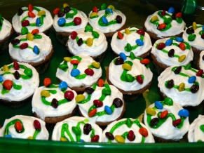 Christmas Lights Mini Cupcakes