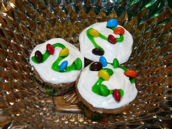 Christmas Lights Mini Cupcakes