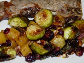 Roasted Brussels Sprouts and Cinnamon Butternut Squash