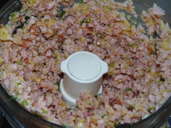 Pulse until all ingredients are finely chopped, scraping down sides as necessary.