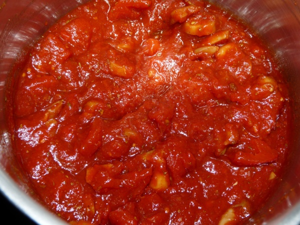 Bring sauce to a boil. Reduce heat to medium low and simmer for 20 minutes.