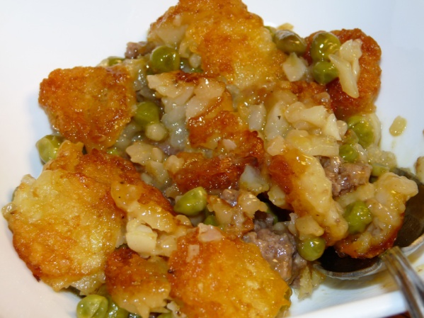 Cheesy Tater Tot Hotdish
