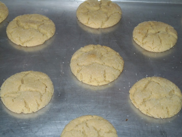 Bake cookies for 12- 14 minutes, until cookies are cracked but not browned.