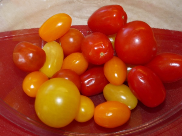 Use your choice of cherry tomatoes.