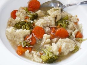 Turkey Vegetable Soup with Dumplings