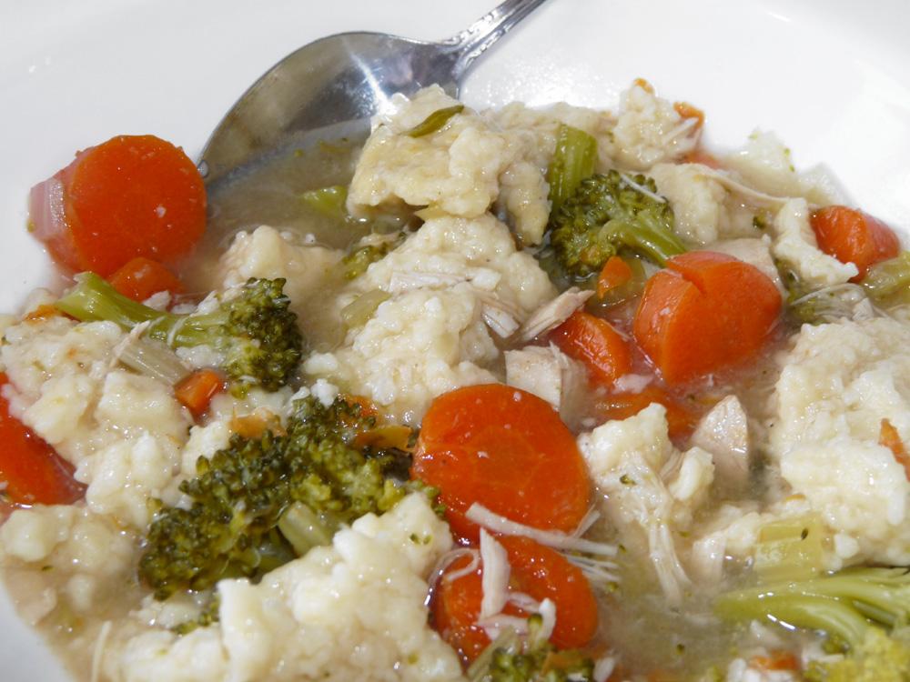 Turkey Vegetable Soup with Dumplings
