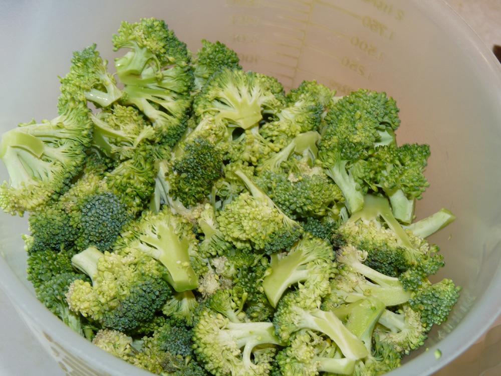 Cut broccoli into smaller florets