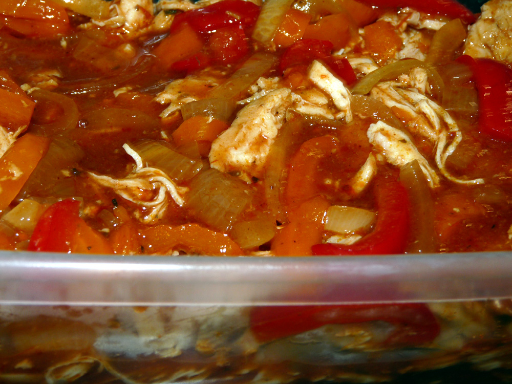 Crockpot Enchilada Shredded Chicken