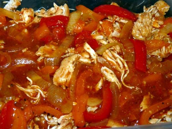 Return shredded chicken to crockpot and stir well. Store in covered container in fridge until used.