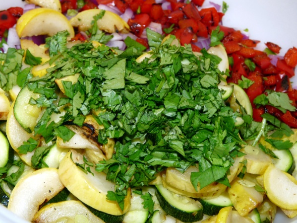 Chop cilantro finely and add to bowl.