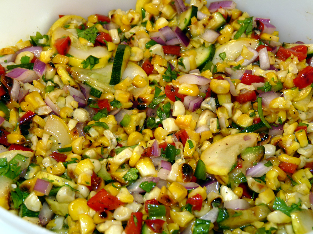 Refrigerate salad until served. Tastes great at room temp, served immediately, or chilled.