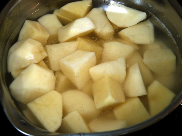 In a separate pot boil potatoes until fork tender. Mash and keep covered until soup is ready.