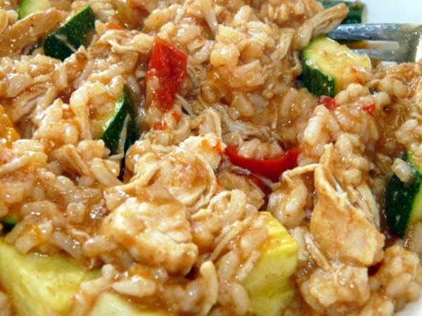 Crockpot Shredded Chicken Enchilada Casserole
