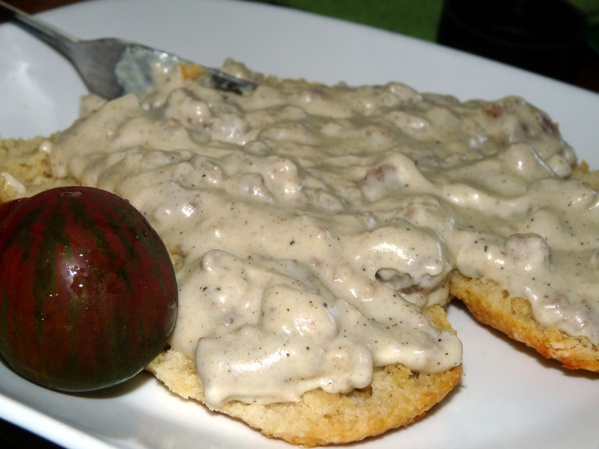 Carla Hall's Biscuits with Sausage Gravy