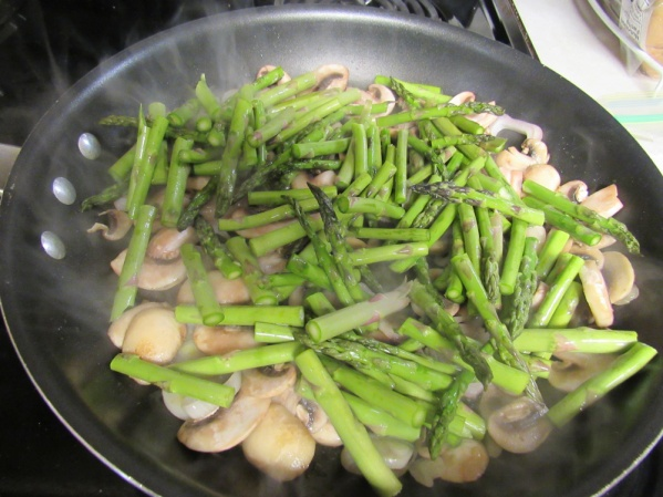 Add asparagus and saute 2-3 more minutes.