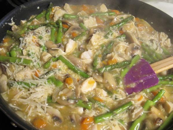 Bring mixture to a bubbling boil then stir in slurry. Stir until mixture thickens.