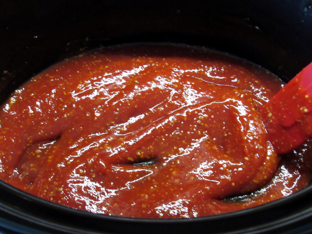 Add barbecue sauce of choice to crockpot or use my recipe.
