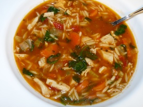 Tasty Turkey Soup with Spinach